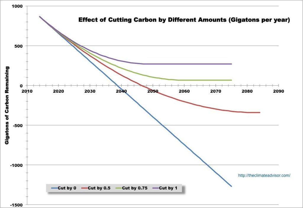 various carbon budgets explored