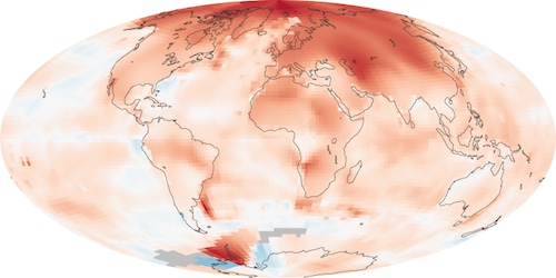 Increasing Arctic temps cause extreme winter weather below