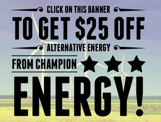 $25 off alternative energy!